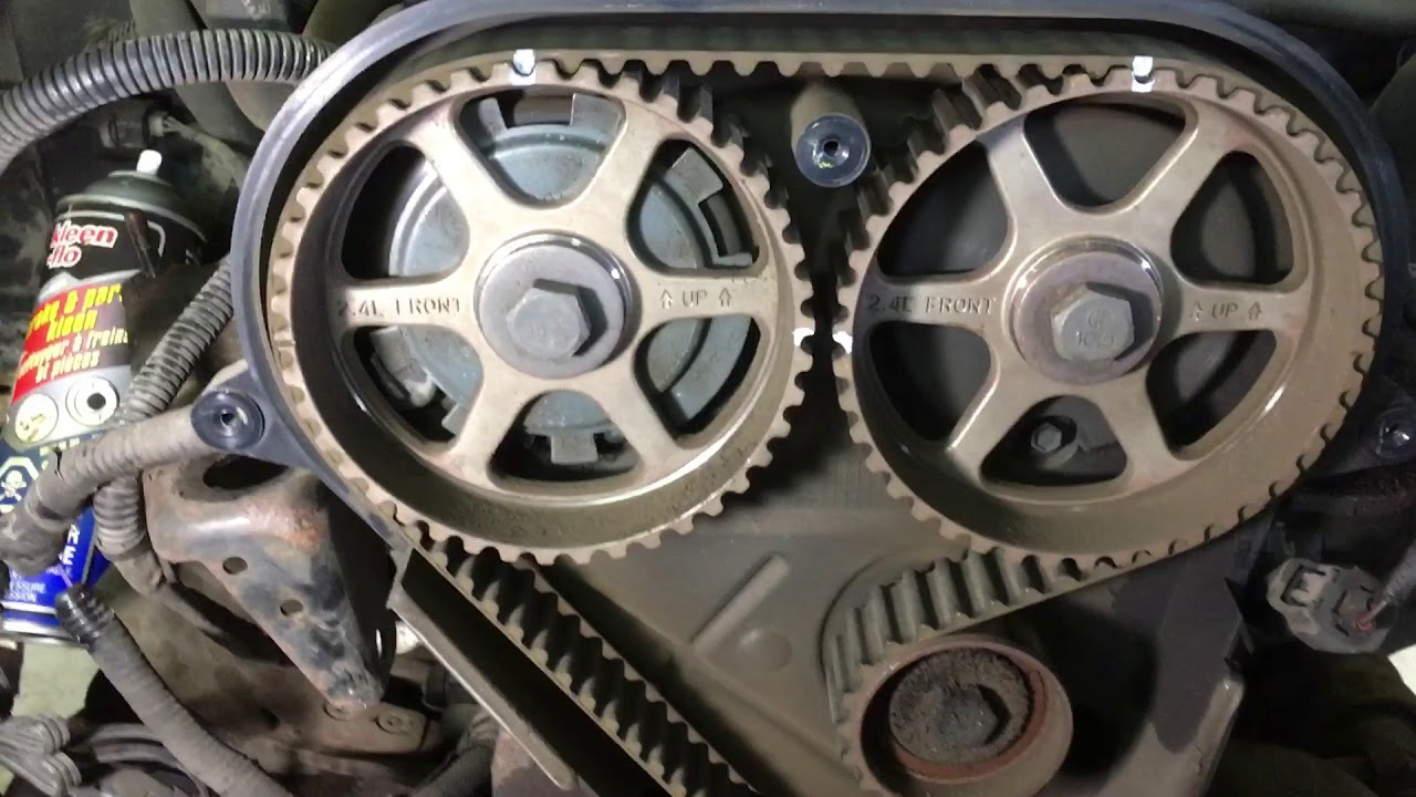 small resolution of jeep tj 2 4 timing belt youtube 2003 jeep wrangler 2 4 engine diagram