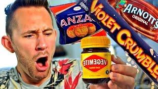 AMERICAN TRIES AUSTRALIAN FOODS