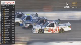 NASCAR Camping World Truck Series 2018. Texas Motor Speedway. Stage 1 Final Laps
