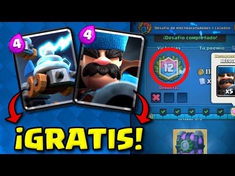 DESBLOQUEANDO GRATIS LAS NUEVAS CARTAS! Como ganar el desafío fácil y sencillo! Clash Royale Español