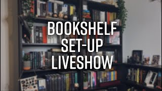 Bookshelf Set Up Livestream 📚