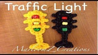 Rainbow Loom Traffic Light Charm - Original Design