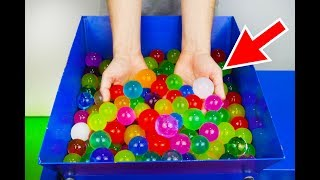 SHREDDING 100 GIANT ORBEEZ! AMAZING VIDEO!