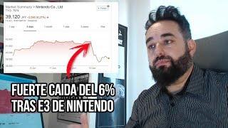Nintendo Castigada con una Fuerte Caída en BOLSA tras el E3 DURAS CRíTICAS  de los analistas