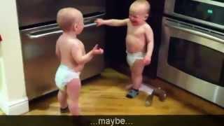 Talking Twin Babies Subtitles Translation HD   YouTube