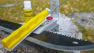 ТОЧИМ НОЖИ В ПОЛЕВЫЙ УСЛОВИЯХ С ТОЧИЛКОЙ ОТ Lansky Knife Sharpening System. Точилка для охоты и дома