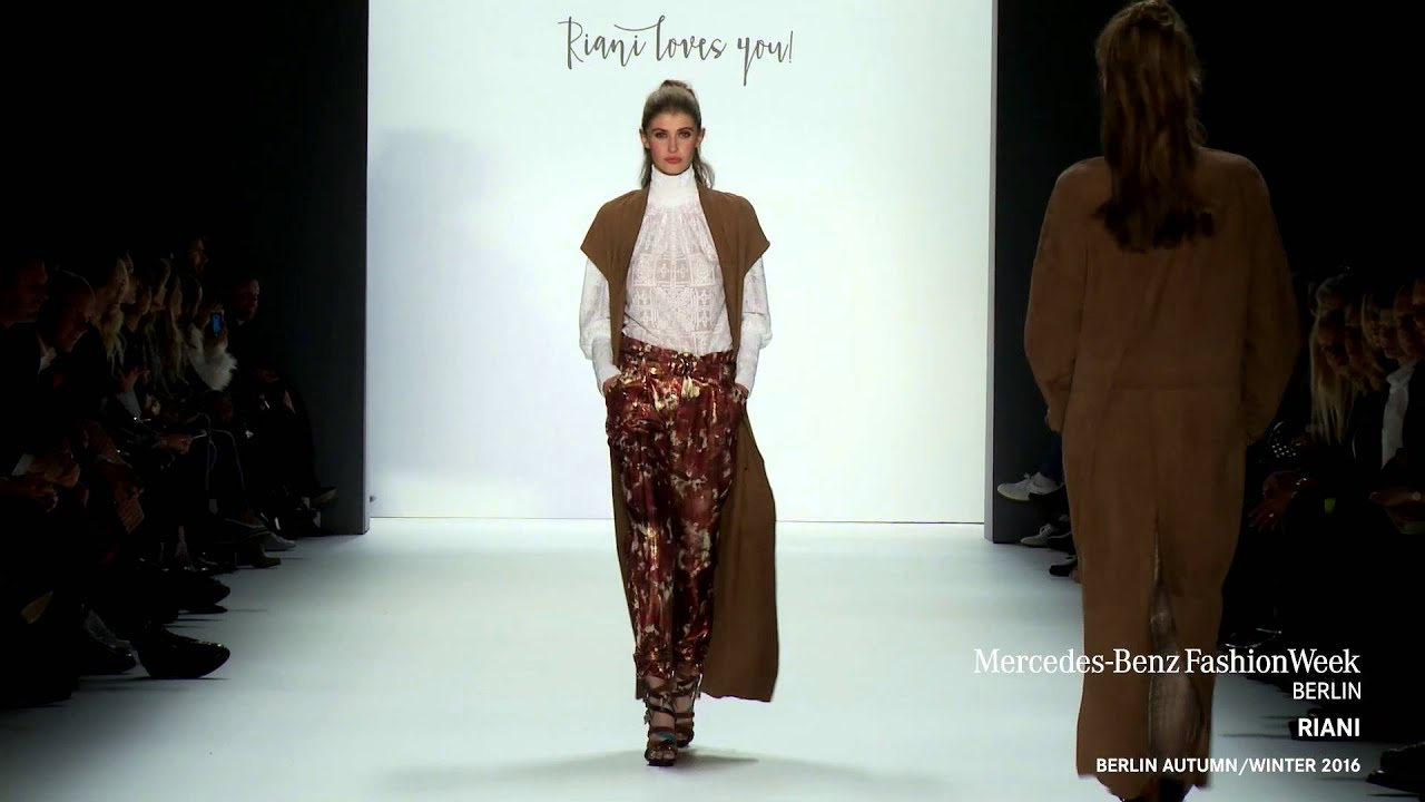 Riani Mercedes Benz Fashion Week Berlin Aw16 Youtube