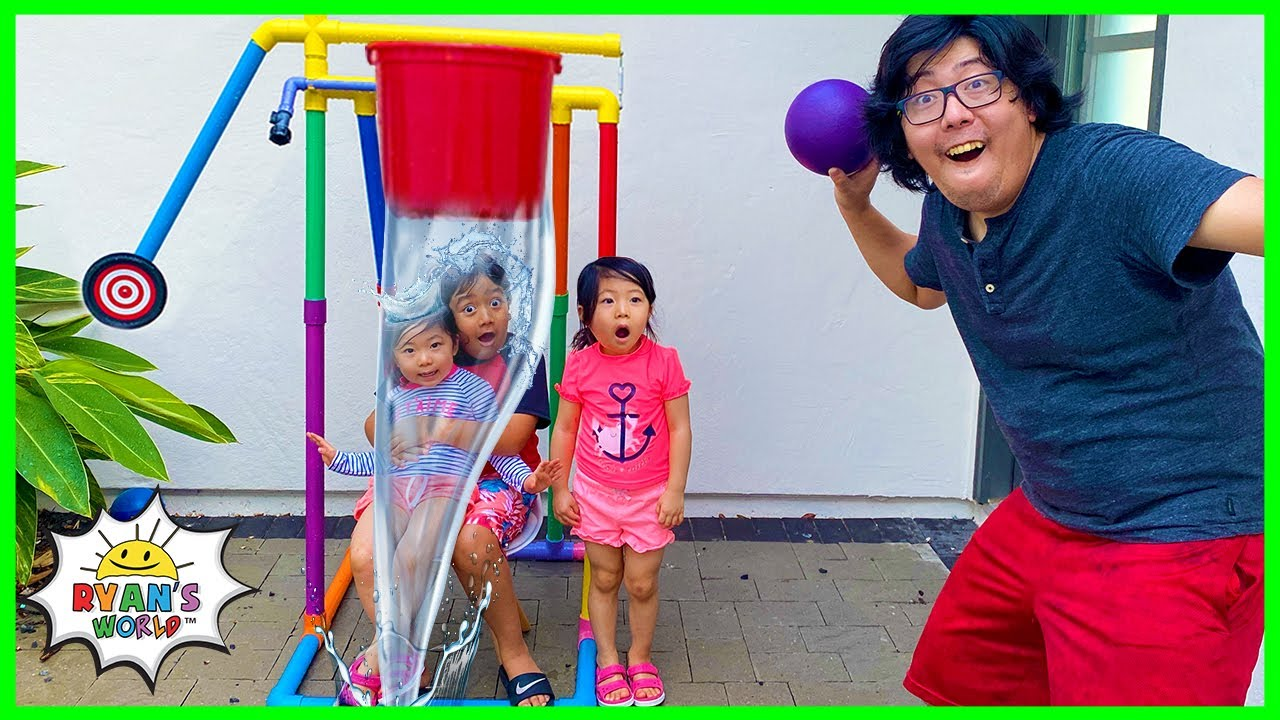Dunk Tank Challenge Kids vs Parents Family Fun Activities!