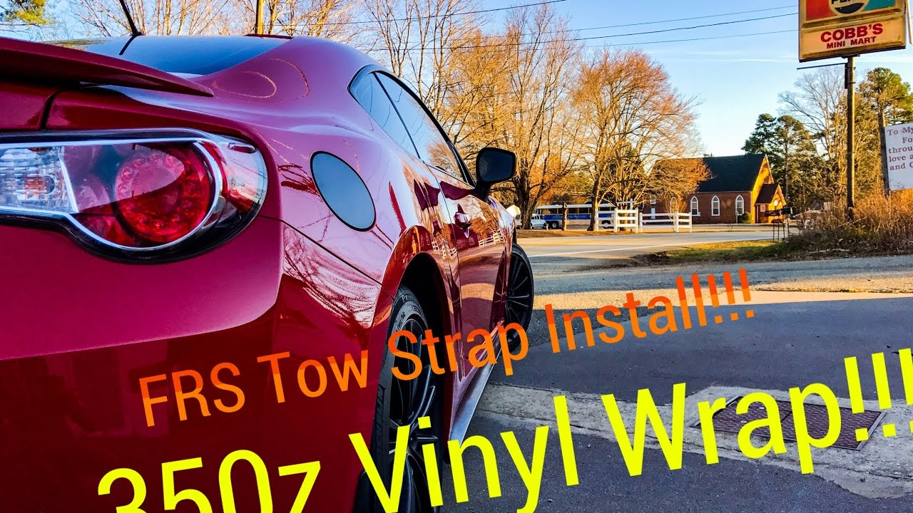 Vinyl Wrapping 350Z Interior | Scion FRS Tow Strap Install