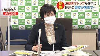 消費者庁長官が自宅待機 家族感染で濃厚接触者に(20/05/13)