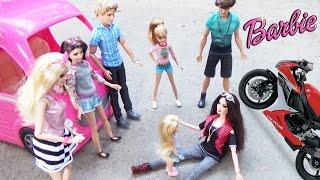 """Мультик Барби """"Приезд Ракель"""" Авто-домик едет на пикник Мультфильм для детей ♥ Barbie Original Toys"""
