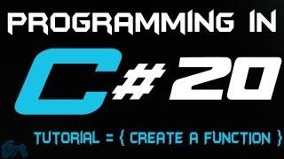 البرمجة في C التعليمي 20: إنشاء وظيفة [HD]