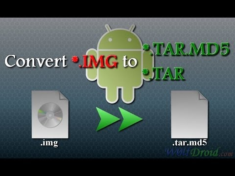 How to Convert .IMG recovery to .TAR.MD5 Flashable File