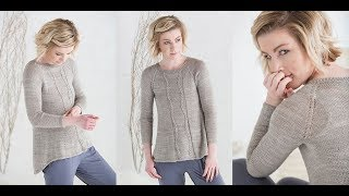 Женский Пуловер Спицами - реглан сверху - 2019 / Women's Pullover