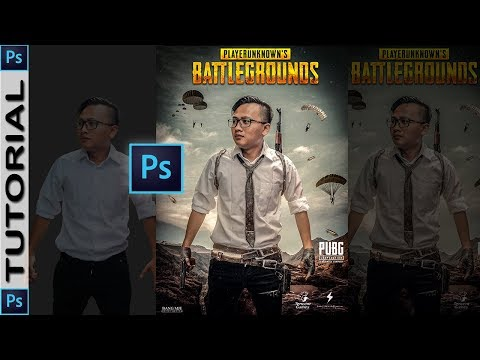 Photoshop Manipulation Tutorial // How to Create PUBG Gaming Poster | #12 thumbnail