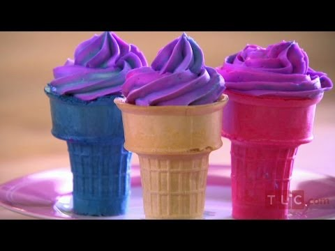 Sofia Makes Ice Cream Cone Cupcakes I Cake Boss