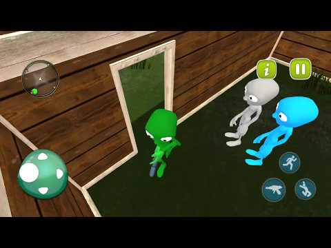 Green Scary Alien Rescue Missions Survival - LEVEL 10 COMPLETE! SUCCESS! Mobile Game