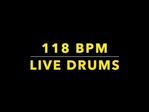 118 BPM Live Drums