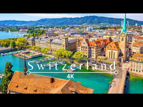Switzerland [4K] Wonderful Cinematic Drone Footage+ Relaxation Music