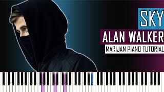How To Play: Alan Walker & Alex Skrindo - Sky | Piano Tutorial