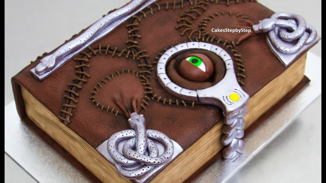 d92a0666860e BOOK of SPELLS Chocolate Cake - How to make by Cakes StepbyStep ...