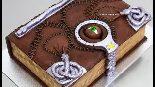 BOOK of SPELLS Chocolate Cake - How to make by Cakes StepbyStep