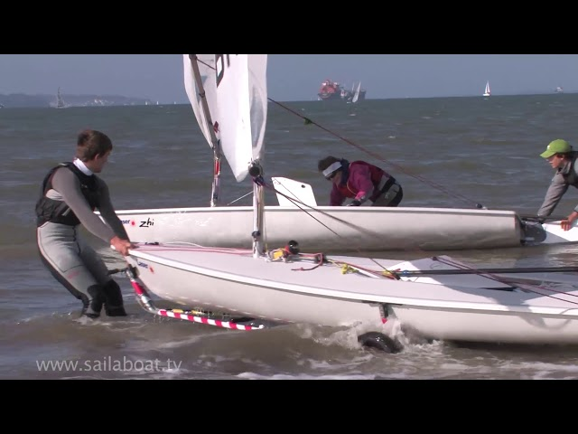How to sail - Beach launching a single handed boat