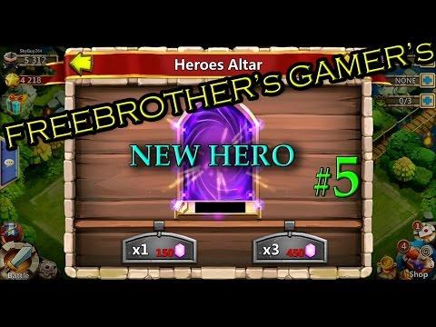 Castle Clash (Kale Savaşı) New Hero-Kahraman çıkarma HACK-HİLE I FBG#5