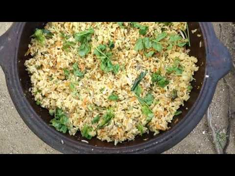 Banana Flower Egg Fried Rice | Quick and Easy Recipe | VILLAGE FOOD