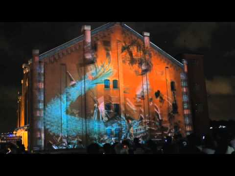 Aztec Legend. Projection Mapping at Akarenga, Yokohama, Japan by Telekinetic Media Lab