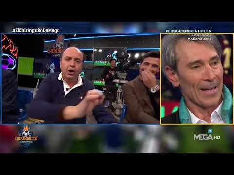 🤣Juanma Rodríguez se pone a 🎻TOCAR el VIOLÍN 🎻mientras ESCUCHA a LOBO hablar de MESSI🤣