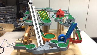 Mini Golf Marble Machine Build, Part 11 (Red Cottage) marble run