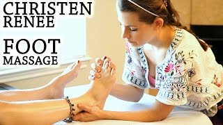 Swedish Foot Massage Therapy, Full Body Massage Series Relaxing Music & ASMR Soft Voice