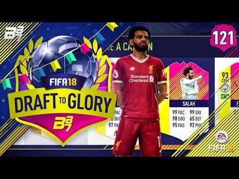 MO SALAH WRECKING BALL!  FIFA 18 DRAFT TO GLORY #121