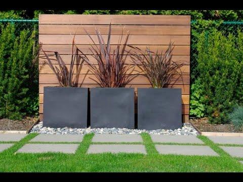 Modern Garden Design Examples   Planters As Accent
