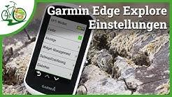 Garmin Edge Explore 🚴 Einstellungen verständlich erklärt 🏁