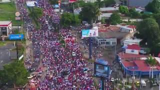 Cientos de miles caminaron este 13 de octubre en Managua por la paz, con fe y esperanza