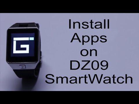 How To Install Apps On Dz09 And Gt08 Smartwatch Youtube