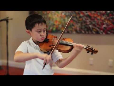 Nathan Gendler, 6 yrs old, plays Mendelssohn Violin Concerto E minor, mvt 1, on 1/4 size violin