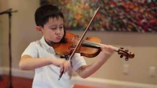 Nathan Gendler, 6 yrs old, plays Mendelssohn Violin Concerto E minor, mvt 1, on 1/4 size violin