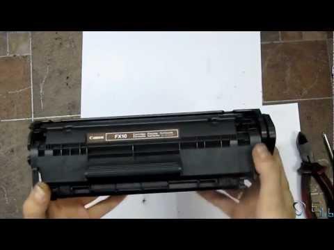HP 1010. Инструкция по заправке.