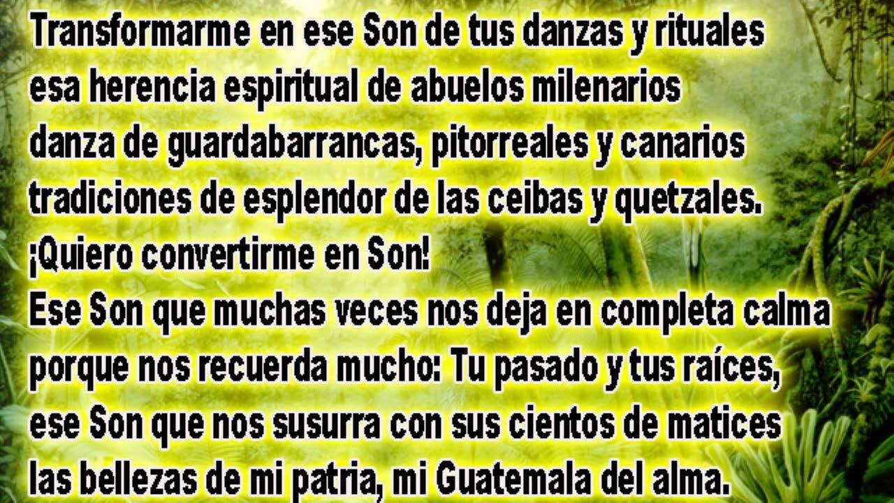 Quiero convertirme en son poema del guatemalteco jose carlos chiqu 237 n
