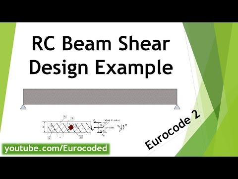 Concrete Beam Design Example to Eurocode 2 - Shear Design Worked Example Calculation