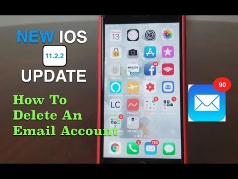 iPhone: How To Delete An Email Account ( 2018 ), With The NEW IOS UPDATE 11.2.2  .