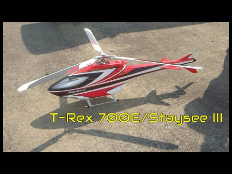 T-Rex 700E/Staysee III (3-blade JR main rotor) 1300 RPM