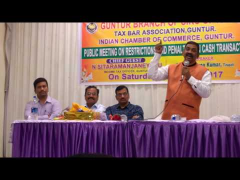 E.Phalgunakumar Speech On Cash transactions