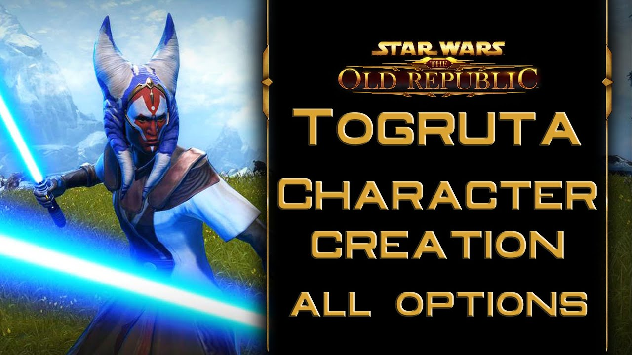 SWTOR: Togruta Character Creation All Options (Male) by FluffyNinjaLlama