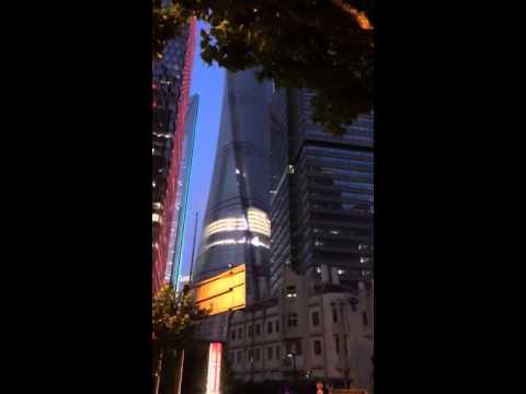 Shanghai Tower LED Screen Test