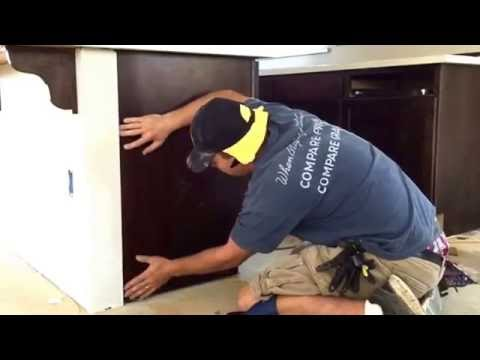 How to install cabinet skins (no nail)