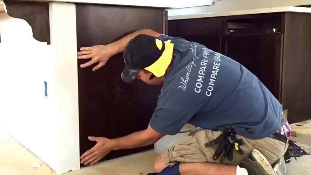 How to install cabinet skins (no nail) - YouTube
